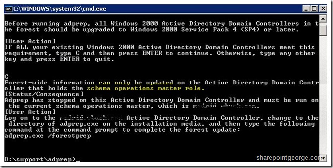 adprepschemaerror thumb Introducing your first Windows 2008 R2 Domain Controller windows 2008 r2 windows windows