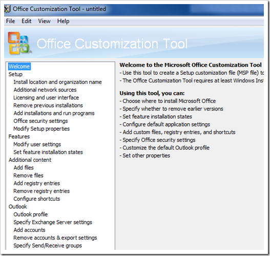 image thumb6 Slipstream Office 2007 Service Packs & working with the Office Customization Tool office