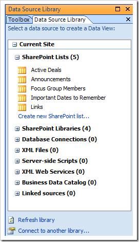 Capture1 thumb2 How to display a SharePoint List from another site using the Data View Web Part sharepoint 2007