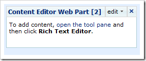 Capture4 thumb Create your own SharePoint Quote of the Day Web Part using the CEWP   No Coding required sharepoint 2007