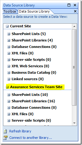 Capture5 thumb1 How to display a SharePoint List from another site using the Data View Web Part sharepoint 2007
