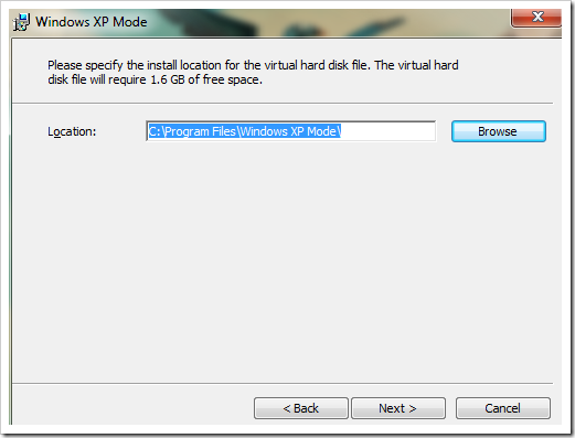 clip image009 thumb How to setup XP Mode on Windows 7 windows 7 virtualisation
