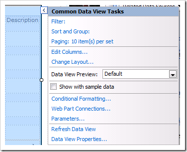 image thumb6 How to display a SharePoint List from another site using the Data View Web Part sharepoint 2007
