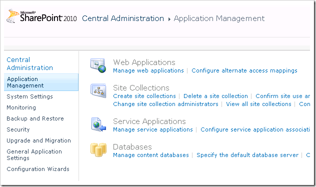 clip image001 thumb2 Creating your first Web Application & Site Collection in SharePoint 2010 sharepoint 2010 sharepoint