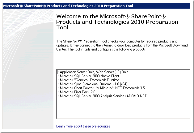clip image002 thumb Installing SharePoint 2010 Beta on a Windows 2008 R2 Server sharepoint 2010