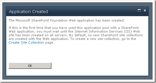 clip image005 thumb3 Creating your first Web Application & Site Collection in SharePoint 2010 sharepoint 2010 sharepoint