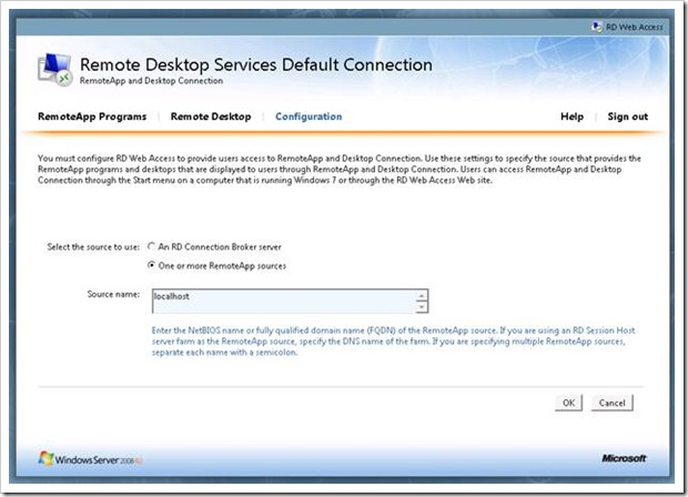 Remote Desktop Services in Windows 2008 R2 – Part 3 – RD Web Access