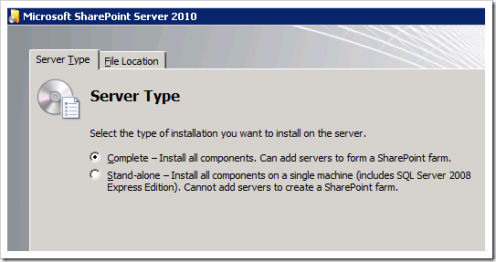 clip image011 thumb2 Installing SharePoint 2010 Beta on a Windows 2008 R2 Server sharepoint 2010
