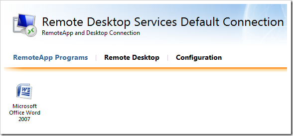 clip image020 thumb1 Remote Desktop Services in Windows 2008 R2 – Part 3   RD Web Access & RemoteApp windows 2008 r2 windows