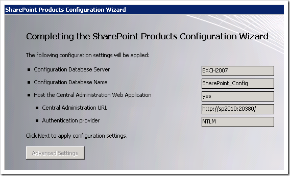 clip image022 thumb1 Installing SharePoint 2010 Beta on a Windows 2008 R2 Server sharepoint 2010