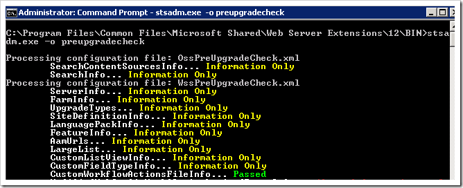 image thumb Upgrading your Content DB to SharePoint 2010 – Part 1, The preupgradecheck sharepoint 2010 sharepoint 2007 sharepoint