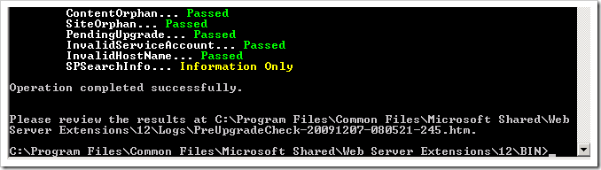 image thumb1 Upgrading your Content DB to SharePoint 2010 – Part 1, The preupgradecheck sharepoint 2010 sharepoint 2007 sharepoint
