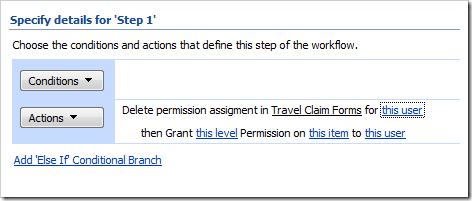image thumb10 Item level permissions for InfoPath forms via SharePoint Designer Workflows sharepoint 2007 sharepoint infopath