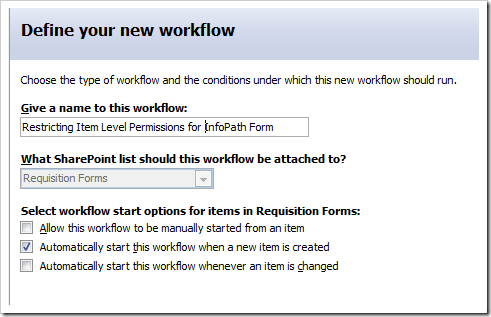 image thumb7 Item level permissions for InfoPath forms via SharePoint Designer Workflows sharepoint 2007 sharepoint infopath