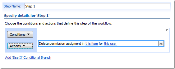 image thumb8 Item level permissions for InfoPath forms via SharePoint Designer Workflows sharepoint 2007 sharepoint infopath