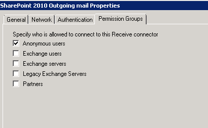 Configuring outgoing email in SharePoint 2010 with Exchange