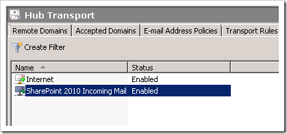 Configuring incoming email in SharePoint 2010 with Exchange