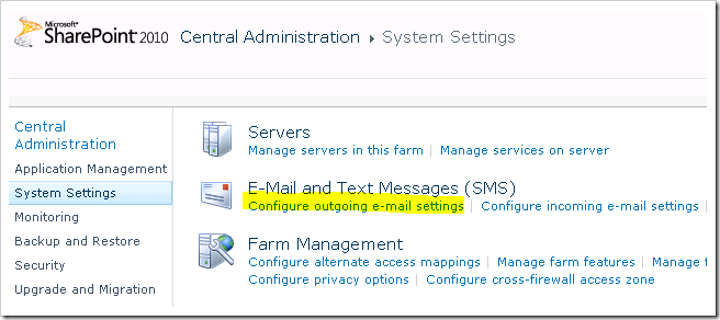 image thumb45 Configuring outgoing email in SharePoint 2010 with Exchange 2010   Step by Step Guide sharepoint 2010 sharepoint exchange 2010 exchange 2007 exchange