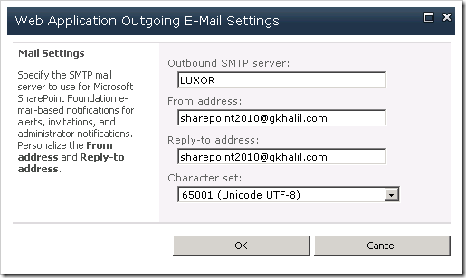 image thumb54 Configuring outgoing email in SharePoint 2010 with Exchange 2010   Step by Step Guide sharepoint 2010 sharepoint exchange 2010 exchange 2007 exchange