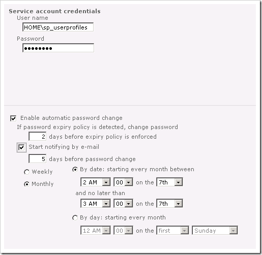 image thumb60 Configuring the User Profile Service in SharePoint 2010 sharepoint 2010 sharepoint
