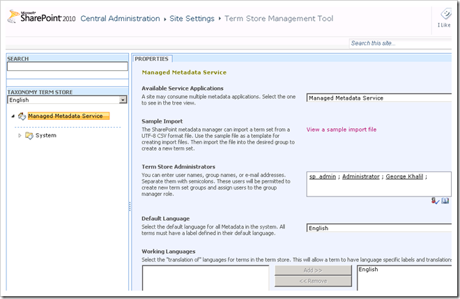 image thumb16 Configuring the Managed Metadata Service Application in SharePoint 2010 Part 1 sharepoint 2010 sharepoint