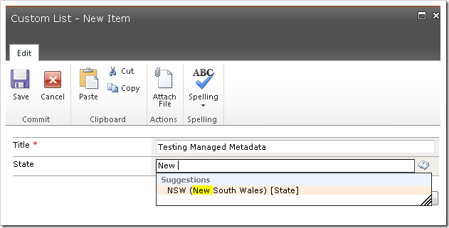 image thumb16 Using the Managed Metadata Service in your SharePoint 2010 Sites Part 3 sharepoint 2010