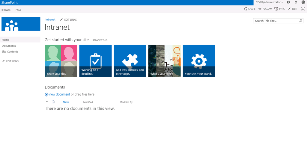 Create a Web Application and Site Collection in SharePoint 2013 Preview