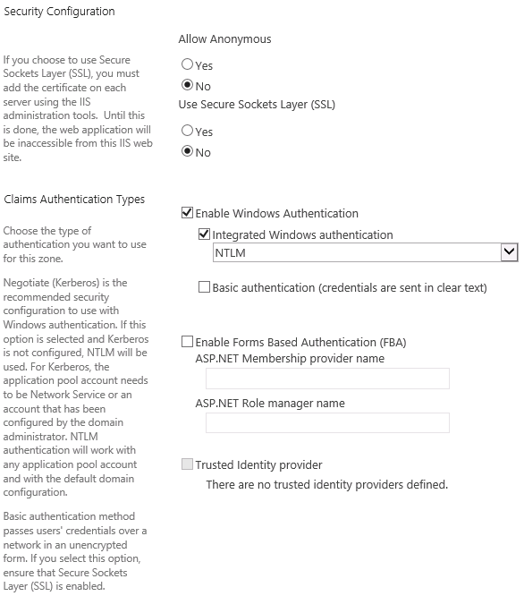 Create a Web Application and Site Collection in SharePoint